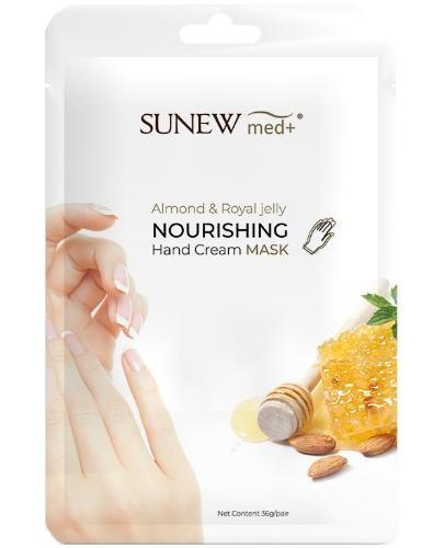 SunewMed+ maska do dłoni słodki migdał i mleczko pszczele 2 sztuki
