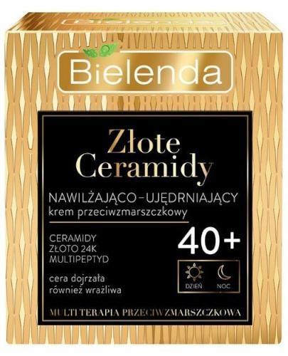 Bielenda Złote Ceramidy nawilżająco-ujędrniający krem przeciwzmarszkowy 40+ 50 ml