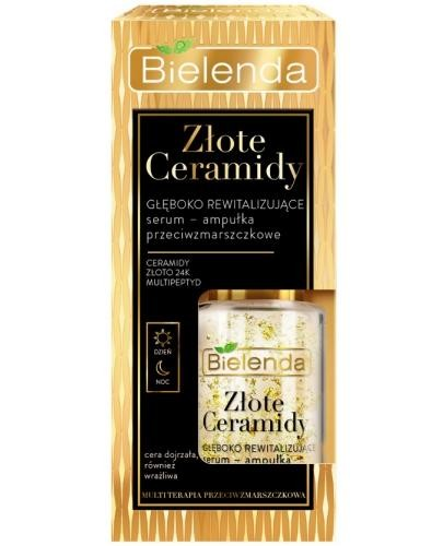 Bielenda Złote Ceramidy głęboko rewitalizujące serum-ampułka przeciwzmarszczkowe dzi...