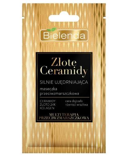 Bielenda Złote Ceramidy silnie ujędrniająca maseczka przeciwzmarszczkowa 8 g