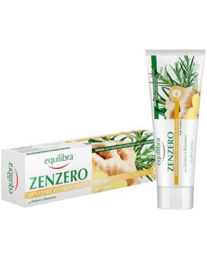 Equilibra Imbirowa pasta do zębów intensywnie odświeżająca 75 ml  [Maska Arganowa + Z...