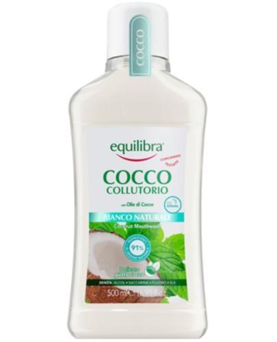 Equilibra Kokosowy płyn do płukania jamy ustnej naturalna biel 500 ml  [Maska Arganow...