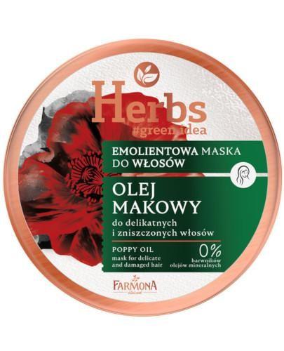 Farmona Herbs emolientowa maska do delikatnych i zniszczonych włosów Olej Makowy 250 ml