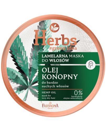 Farmona Herbs lamelarna maska do bardzo suchych włosów Olej Konopny 250 ml