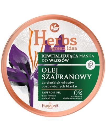 Farmona Herbs rewitalizująca maska do cienkich i pozbawionych blasku włosów Olej Szafra...