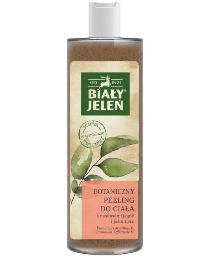 Biały Jeleń botaniczny peeling do mycia ciała z nasionami jagód i jaśminem 400 ml