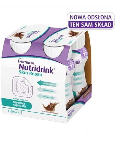 Nutridrink Skin Repair o smaku czekoladowym 4 x 200 ml