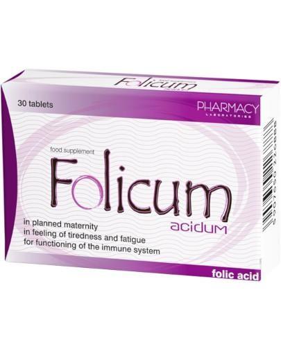 Folicum Acidum 30 tabletek  [Data ważności 31-12-2021]