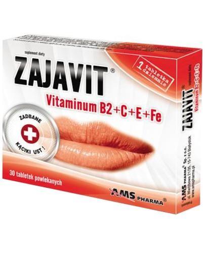 AMS Zajavit vitaminum B2+C+E+Fe 30 tabletek