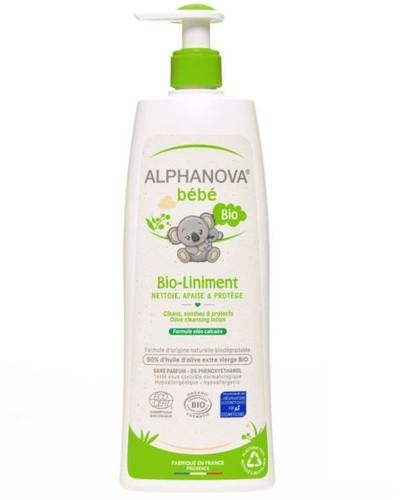 Alphanova Bebe Bio Liniment organiczna oliwka do mycia i nawilżania 500 ml