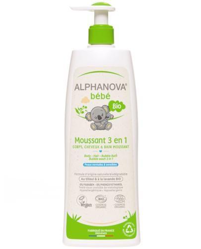 Alphanova Bebe organiczny płyn do kąpieli dla dzieci 3w1 500 ml