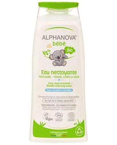 Alphanova Bebe organiczna woda micelarna do mycia 200 ml