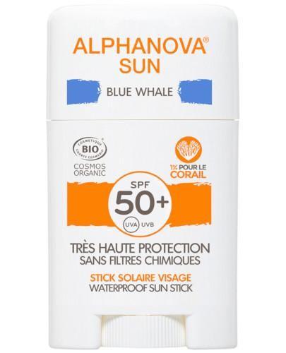 Alphanova Sun krem z filtrem w sztyfcie SPF 50+ Blue Whale 12 g