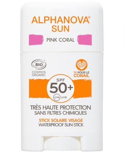 Alphanova Sun krem z filtrem w sztyfcie SPF 50+ Pink Coral 12 g