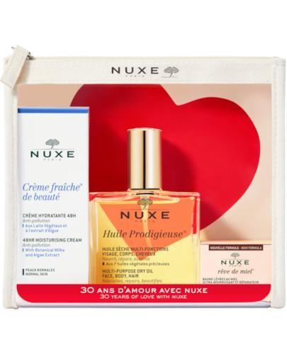 Nuxe Kosmetyczka 30-lecie Huile Prodigieuse suchy olejek 100 ml + krem Crème Fraîche de ...
