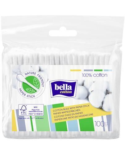Bella Cotton papierowe patyczki higieniczne w folii 100 sztuk