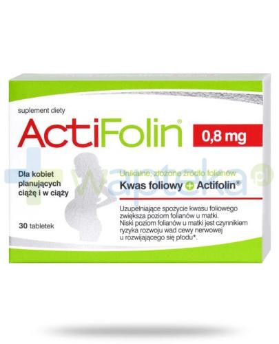 ActiFolin 0,8mg kwas foliowy 30 tabletek
