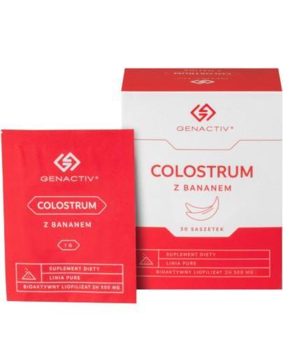 Colostrum z bananem Genactiv 30 saszetek [Colostrum Colostrigen]