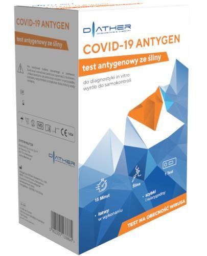 Diather COVID-19 Antygen test antygenowy ze śliny 1 sztuka