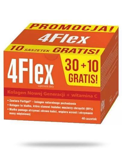 4 Flex kolagen nowej generacji z witaminą C 30 saszetek + 10 saszetek [GRATIS]