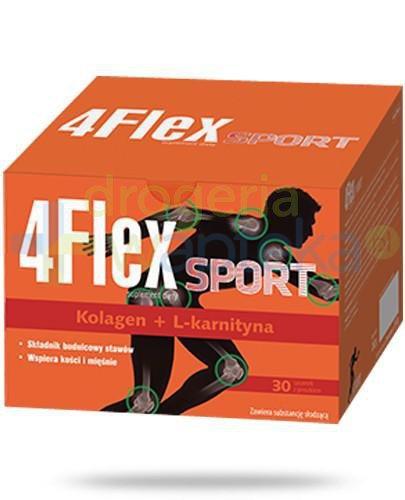 4 Flex Sport kolagen nowej generacji z L-karnityną 30 saszetek  whited-out