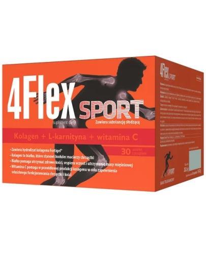 4 Flex Sport kolagen nowej generacji z L-karnityną i witaminą C 30 saszetek