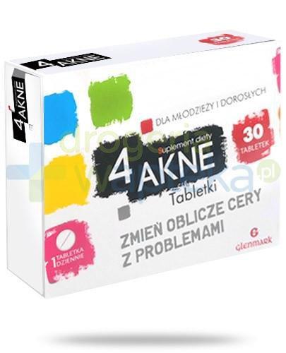 4 Akne na cerę z problemami 30 tabletek  whited-out