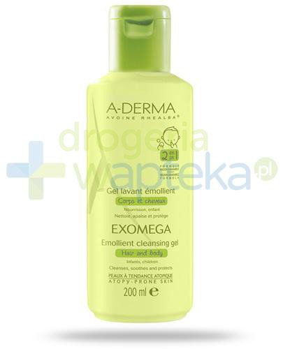 A-Derma Exomega żel emolient do mycia 2w1 dla niemowląt i dzieci 200 ml
