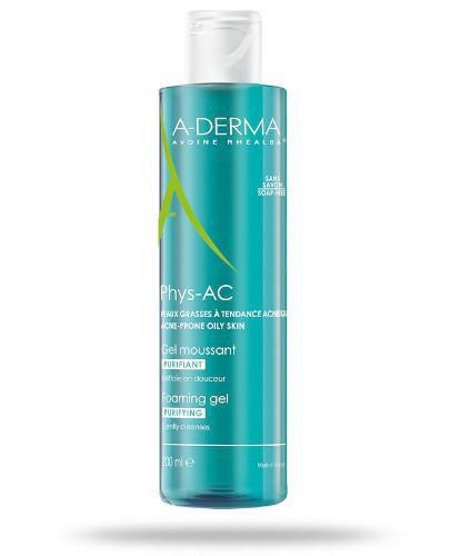 A-Derma Phys-AC żel oczyszczający do mycia do skóry skłonnej do trądziku 200 ml