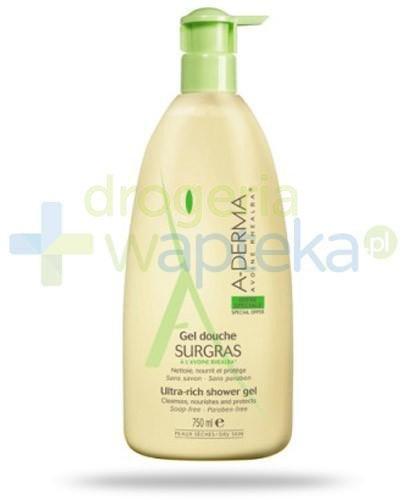 A-Derma Surgras żel pod prysznic ultra bogata konsystencja 750 ml