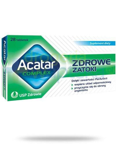 Acatar Complex Zdrowe zatoki 28 tabletek  whited-out
