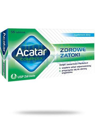 Acatar Complex Zdrowe zatoki 56 tabletek  whited-out