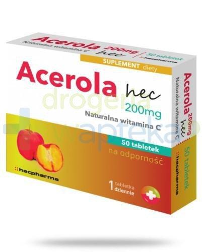 Acerola 200mg hec 50 sztuk