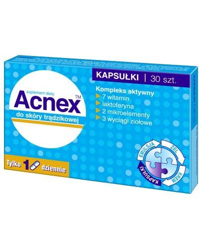 Acnex do skóry trądzikowej 30 kapsułek