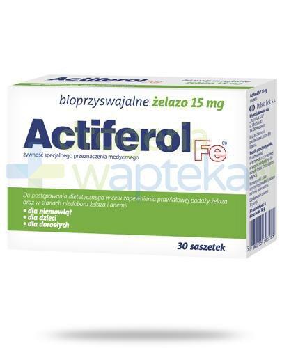 Actiferol Fe bioprzyswajalne żelazo 15mg 30 saszetek
