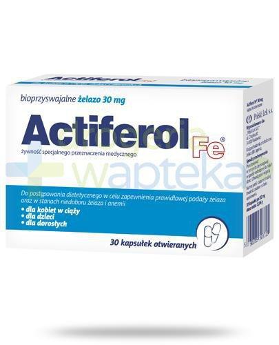 Actiferol Fe bioprzyswajalne żelazo 30mg 30kapsułek