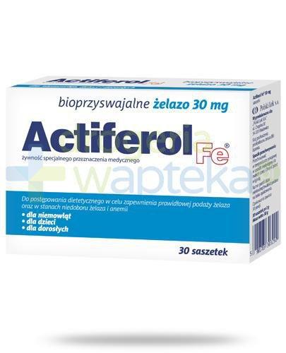 Actiferol Fe bioprzyswajalne żelazo 30mg 30saszetek