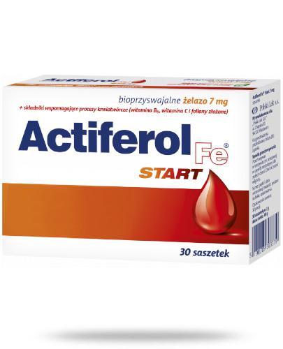 Actiferol Fe Start bioprzyswajalne żelazo 7 mg 30 saszetek