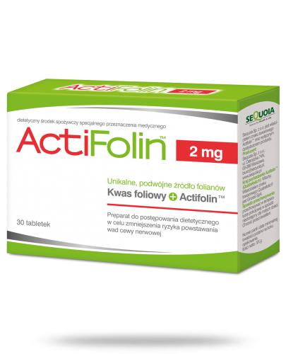 ActiFolin 2 mg 30 tabletek  whited-out