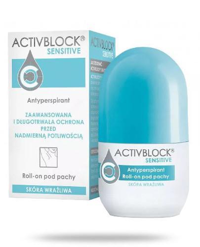 Activblock Sensitive roll-on antyperspirant do skóry wrażliwa 25 ml