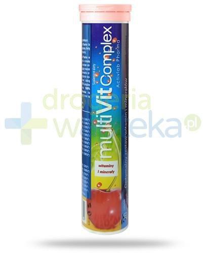 MultiVit Complex witaminy i minerały smak wiśniowy 20 tabletek