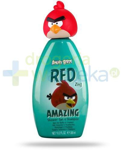 Air-Val Angry Birds Red żel 2w1 pod prysznic do włosów i ciała 300 ml [5962]  whited-out