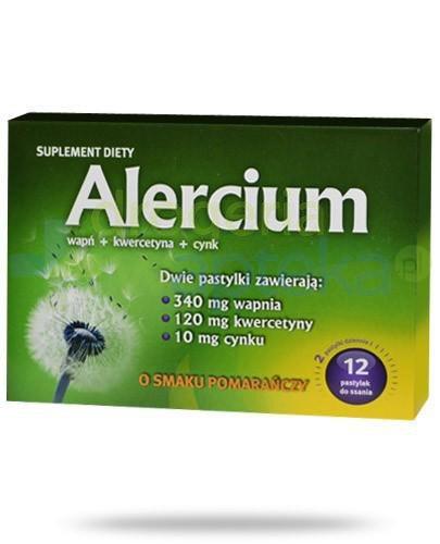 Alercium 12 pastylek do ssania