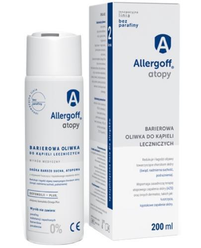 Allergoff Atopy barierowa oliwka do kąpieli leczniczych 200 ml