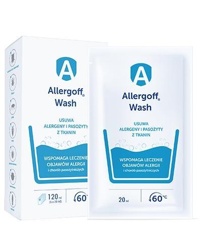 Allergoff Wash dodatek do prania neutralizator alergenów kurzu domowego 6x 20 ml   whited-out