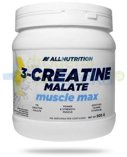 Allnutrition 3-Creatine Malate Muscle Max Lemon kreatyna smak cytrynowy 500 g [kreatyna , jabłczan]