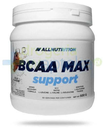 Allnutrition BCAA Max Support Cola smak coli 500 g [aminokwasy] [DARMOWA DOSTAWA]