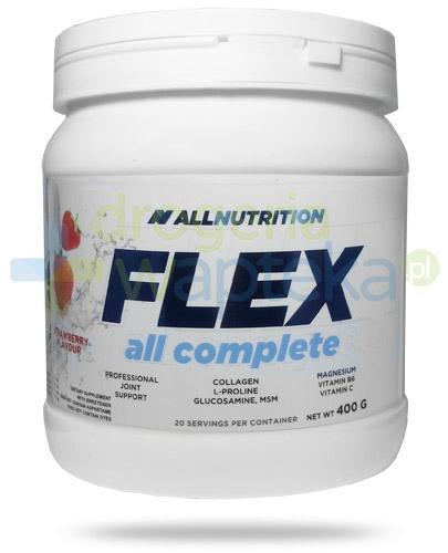 Allnutrition Flex All Complete Strawberry białko kolagenowe smak truskawkowy 400 g [kolagen]