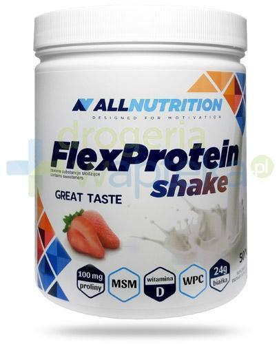Allnutrition FlexProtein Shake Strawberry białko kolagenowe smak truskawkowy 500 g [DARMO...