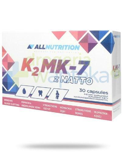 Allnutrition K2 MK-7 z natto 30 kapsułek [Data ważności 28-02-2019]